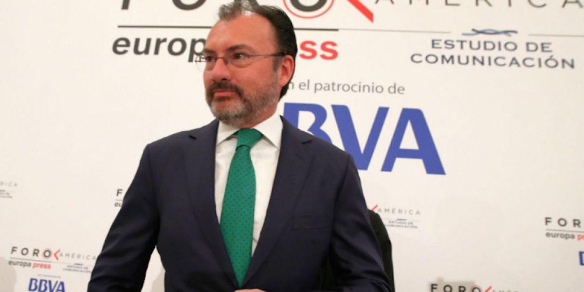 Negociación comercial del TLCAN comenzaría en verano: Videgaray