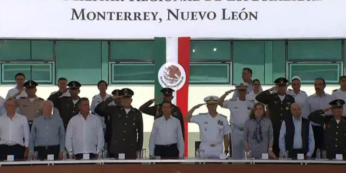 Peña Nieto inaugura Hospital Militar Regional de Especialidades en Monterrey