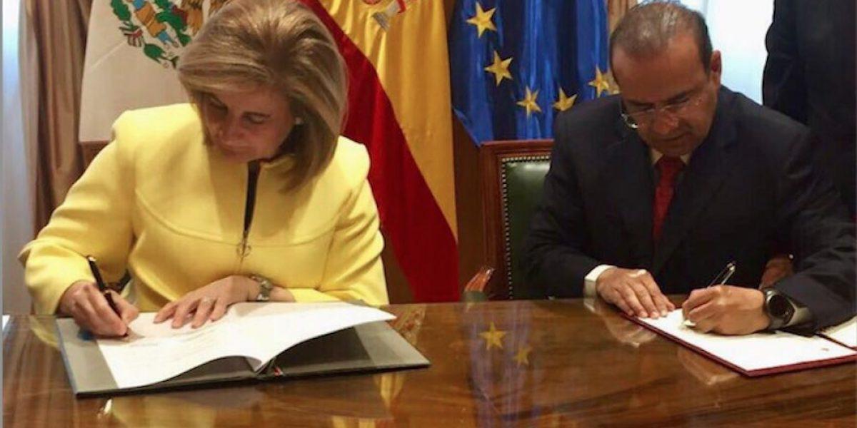 España y México firman acuerdo de cooperación en materia laboral