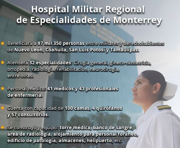 Peña Nieto inaugura hospital militar de especialidades en NL