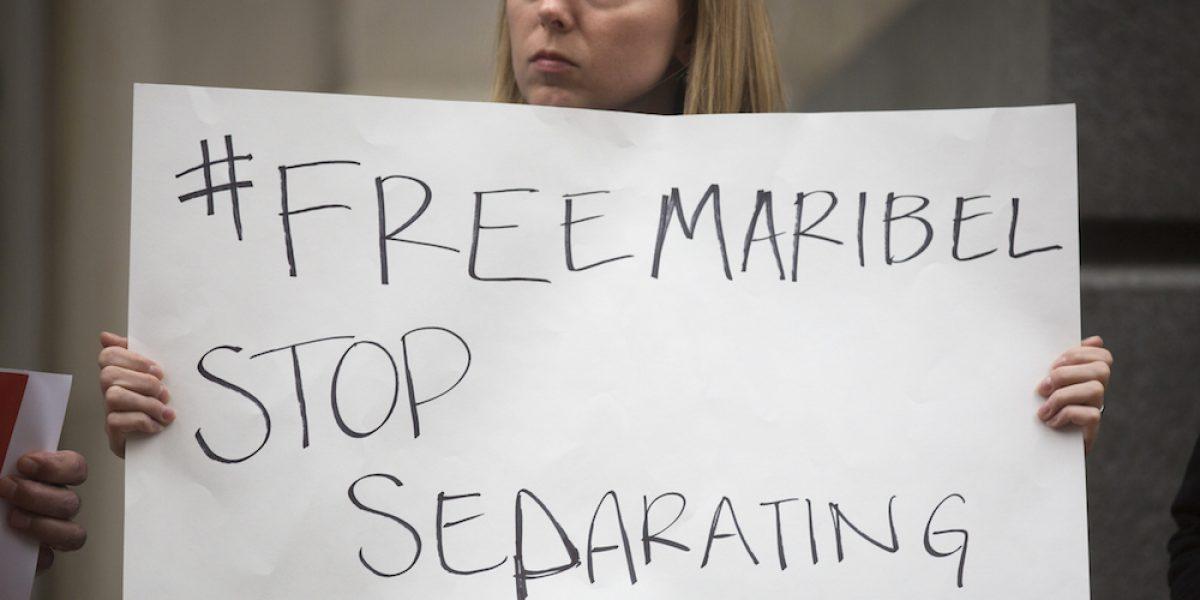 Maribel Trujillo protesta deportación migrante