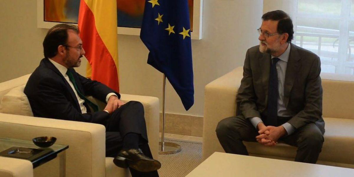 Videgaray y Rajoy refrendan cooperación económica entre México y España