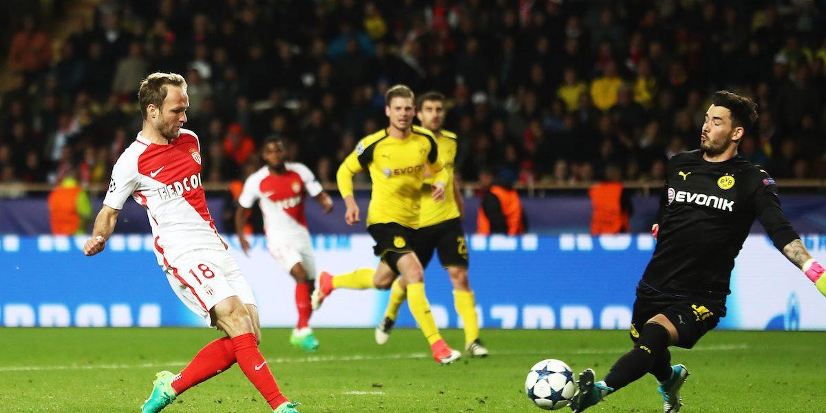 Mónaco no tuvo problemas para eliminar al Dortmund y avanzar a semifinales