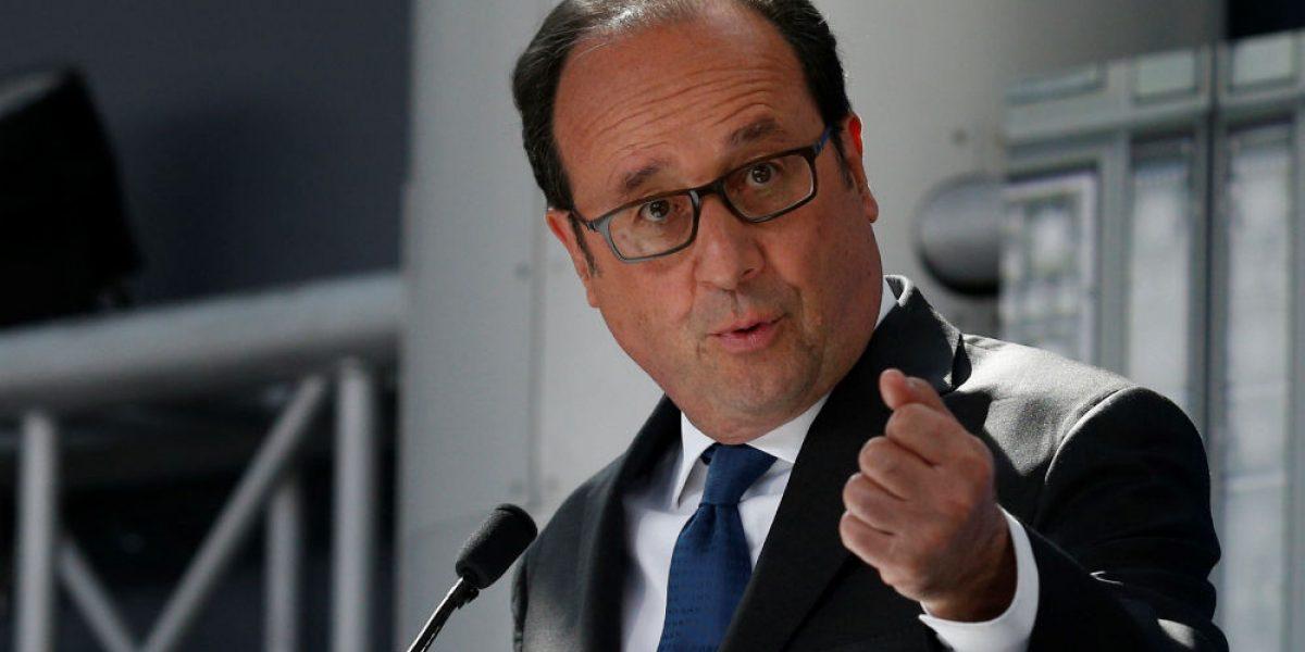 "Hollande reitera ""determinación absoluta"" para acabar con terrorismo"