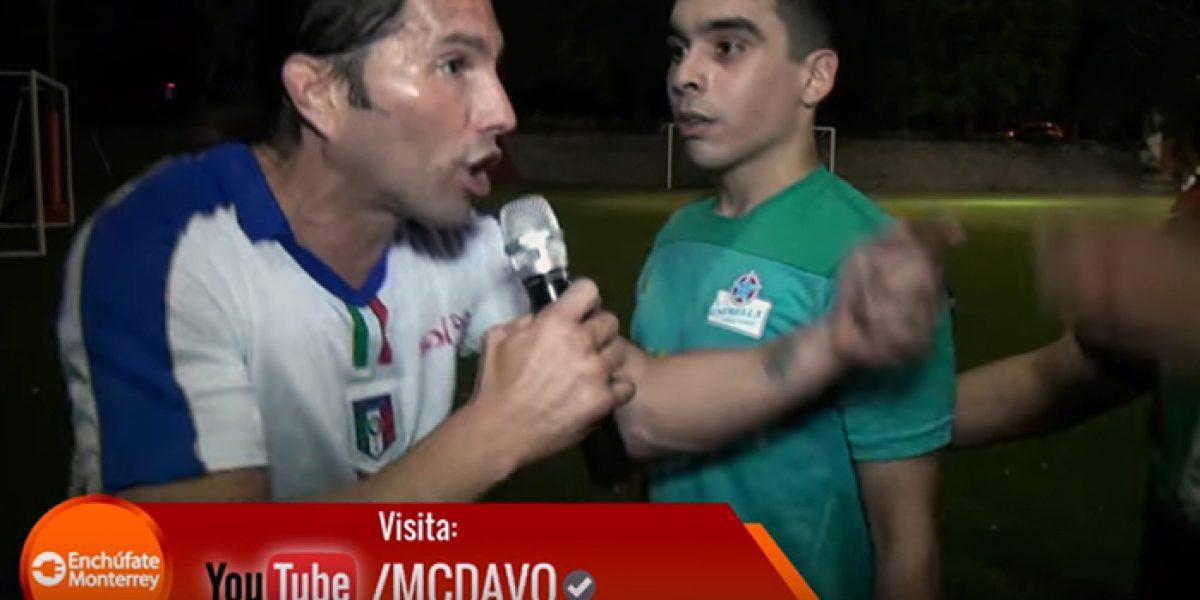 Poncho De Nigris y Mc Davo ¡se pelean después de partido!