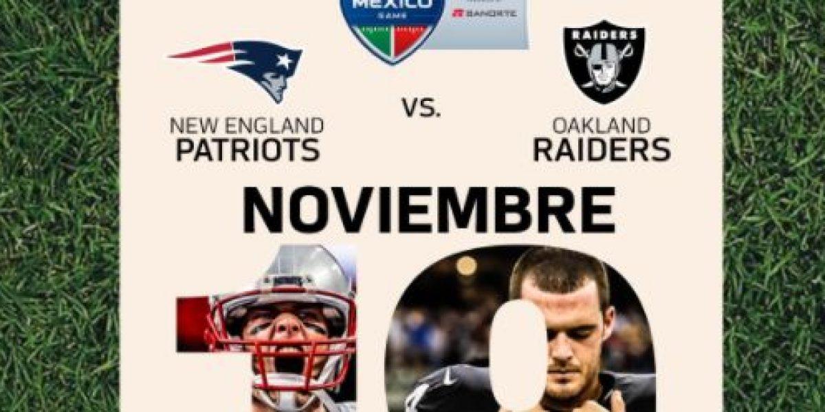 Anuncian fecha y horario para juego Patriots vs. Raiders en México