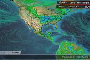 Pronóstico del Tiempo para este 22 y 23 de abril