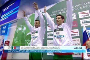 Rommel Pacheco y Jahir Ocampo ganan plata en Serie Mundial de Clavados