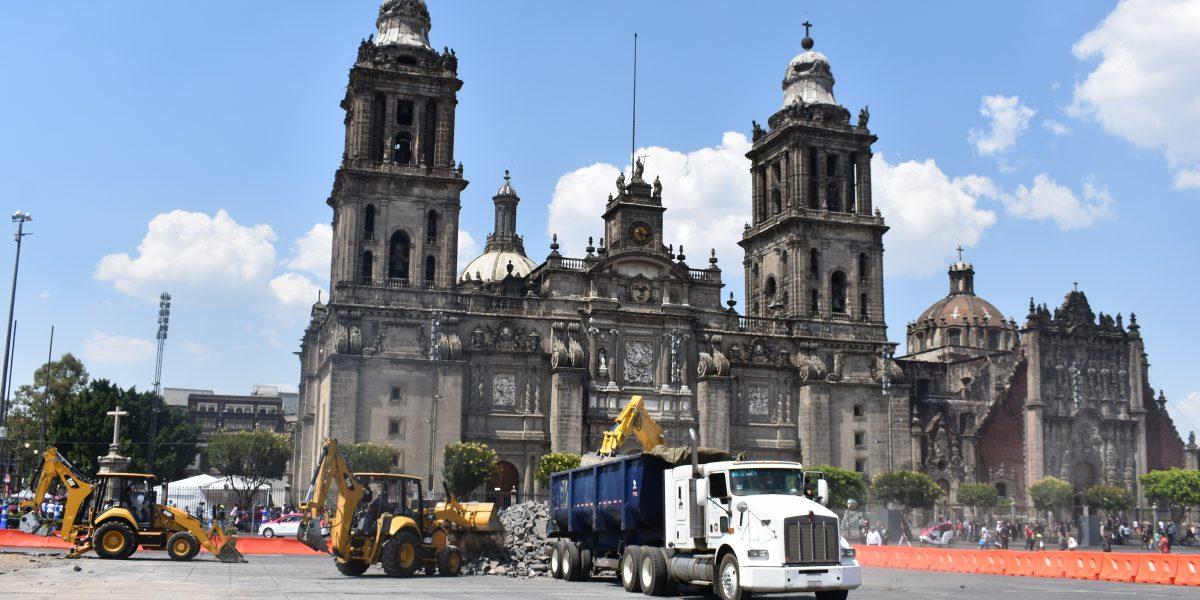 Comienza remodelación de la plancha del Zócalo capitalino