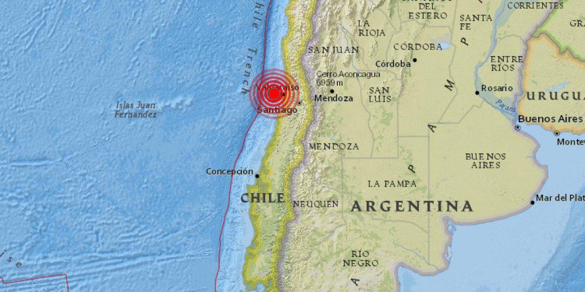 Sismo de 6.1 sacude a Chile