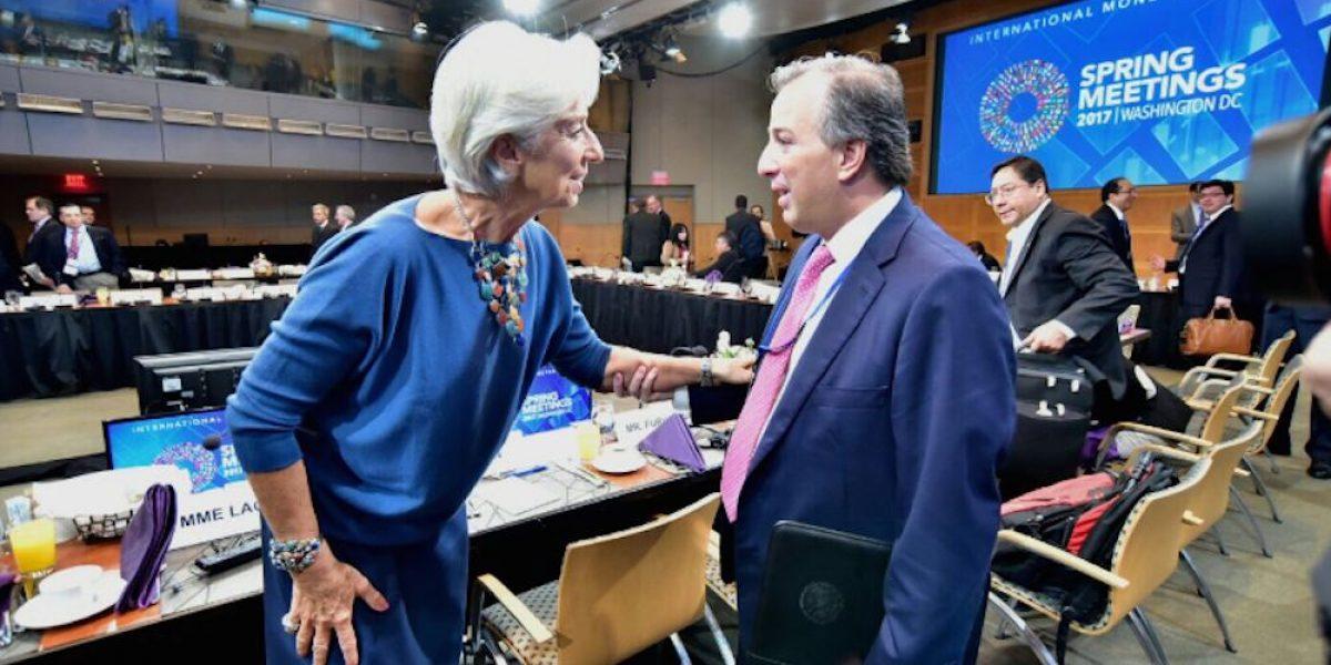 Meade Kuribreña se reúne con la directora del FMI y el presidente del BM