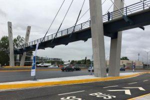 Inauguran puente peatonal atirantado en San Nicolás, Nuevo León