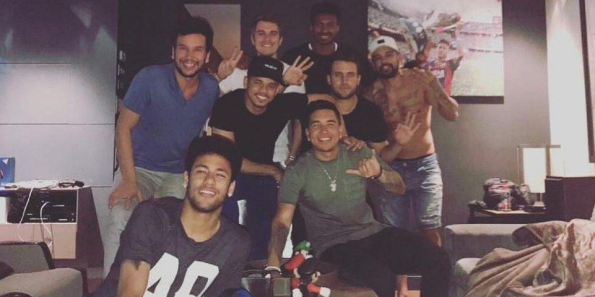 VIDEO: Así celebró Neymar el triunfo del Barcelona