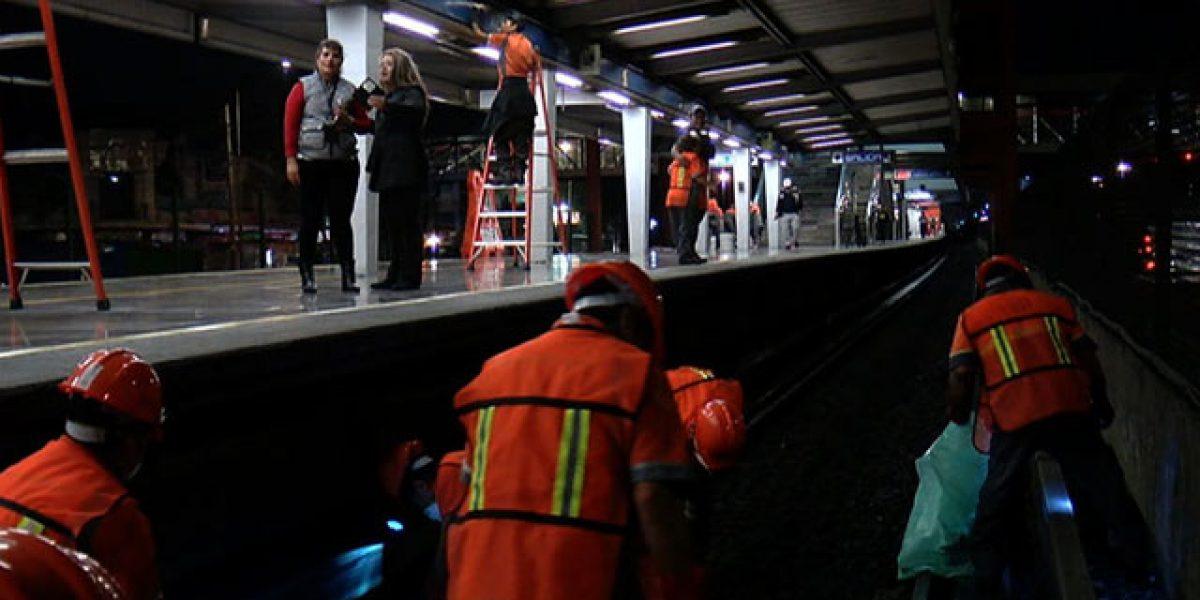 Limpieza profunda: Operación nocturna en el Metro