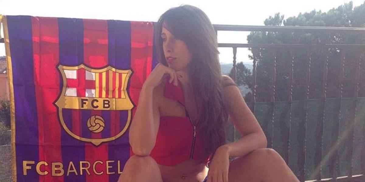 Judit Benavente celebró en 'topless' el triunfo del Barça