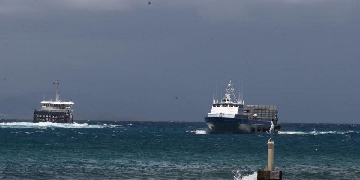 Suspenden servicios de lanchas por condiciones peligrosas en el mar