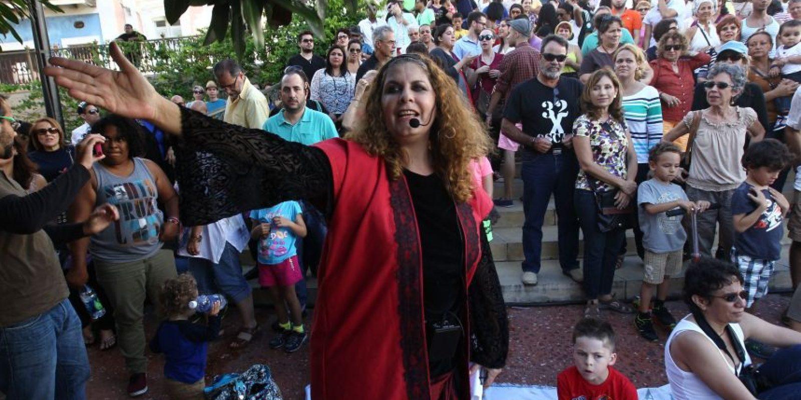 Tere Marichal recita uno de sus cuentos Foto:Keno Rodríguez/ Metro Puerto Rico. Imagen Por: