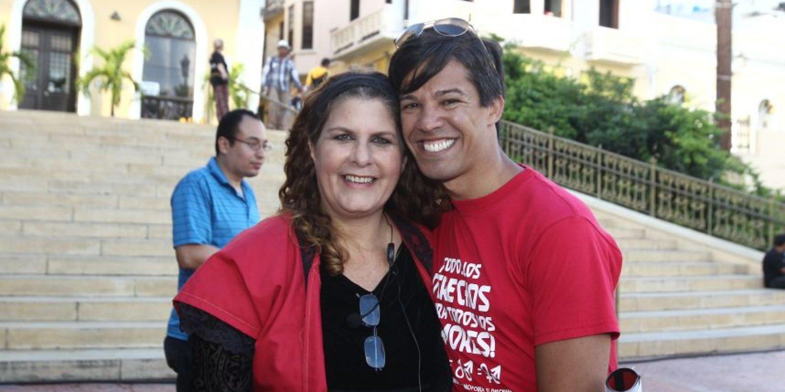 Tere Marichal junto con el luchador de derechos humanos Pedro Julio Serrano Foto:Keno Rodríguez/ Metro Puerto Rico. Imagen Por: