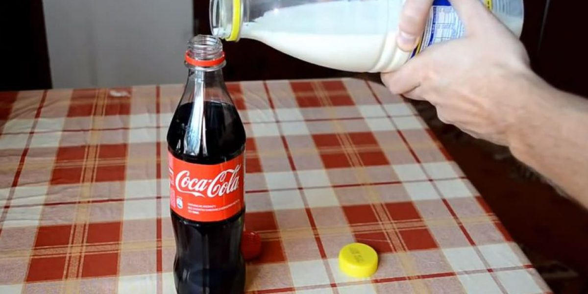 ¿Qué pasa cuando mezclas refresco de cola y leche?