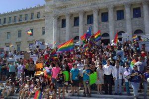 Marcha de la comunidad LGBTT contra la homofobia