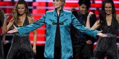 La actriz Jane Lynch decidió parodiar lo sucedido en Miss Universo 2015 Foto:Getty Images. Imagen Por: