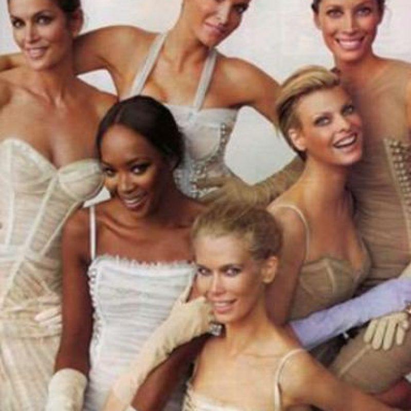 Aunque el término se comenzó a usar en los años 50, fue en los 90 que se popularizó, ya que existían varias top que formaban la élite de la moda. Foto:vía Vogue. Imagen Por:
