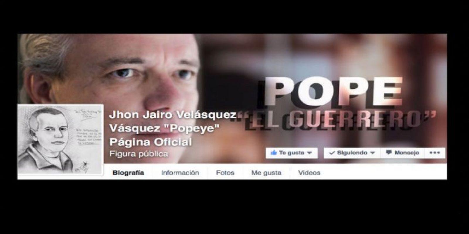"""Cerró su página de Facebook en agosto del año pasado. Foto:vía Facebook/John Jairo Velásquez Vásquez """"Popeye"""". Imagen Por:"""