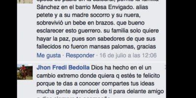 """Llegó a tener miles de seguidores en su página oficial de Facebook, donde contestaba a admiradores. Foto:vía Facebook/John Jairo Velásquez Vásquez """"Popeye"""". Imagen Por:"""