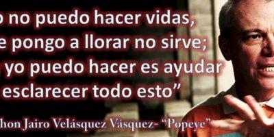 """Las causas, misteriosas. Foto:vía Facebook/John Jairo Velásquez Vásquez """"Popeye"""". Imagen Por:"""