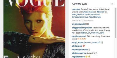 """Mertalas, fotógrafo de celebridades: """"Este es un pequeño tributo que le hicimos con Kate Moss para Vogue París"""" Foto:Instagram.com. Imagen Por:"""