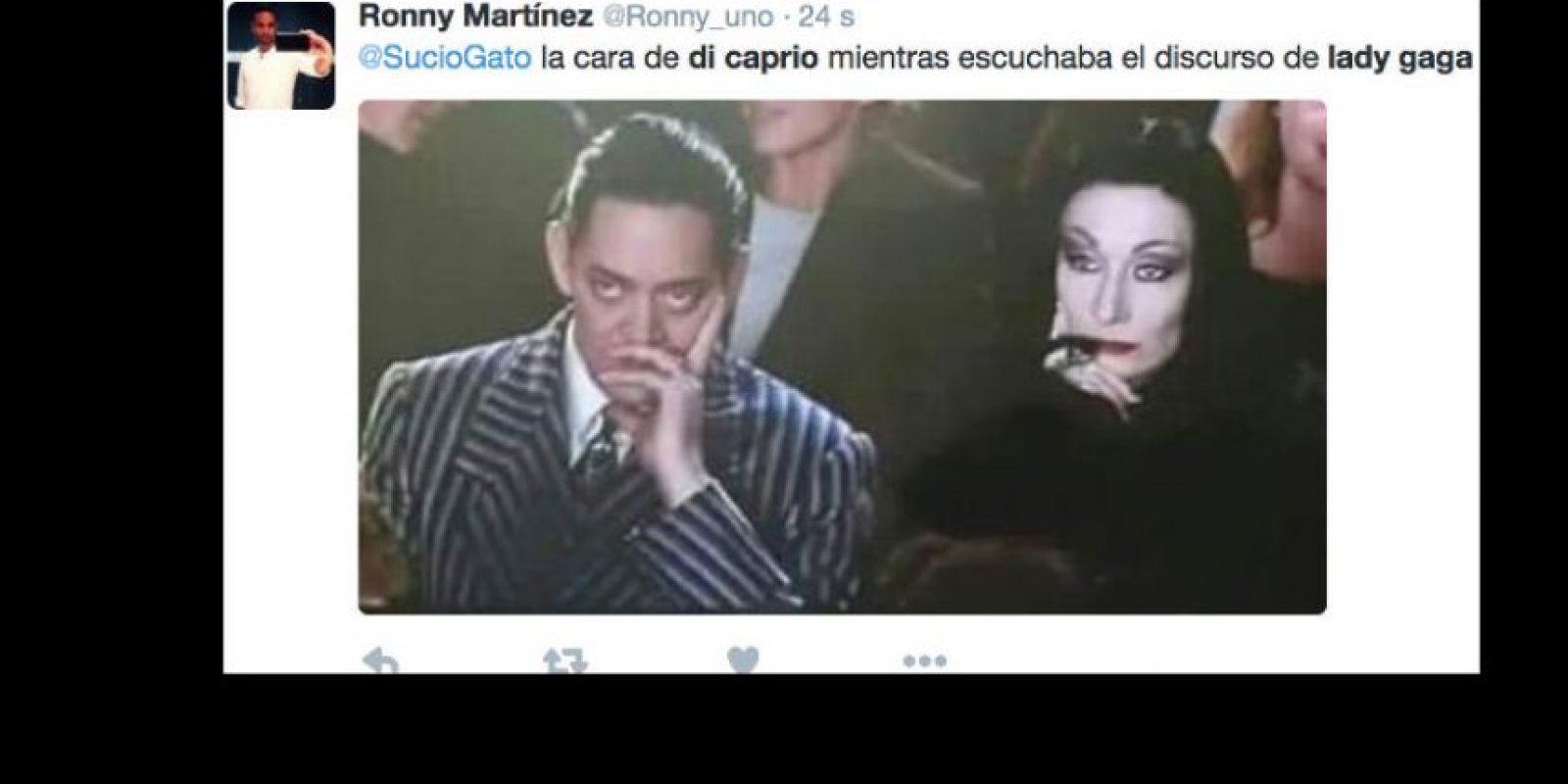 Sobre todo al imaginar la reacción de DiCaprio. Foto:vía Twitter. Imagen Por: