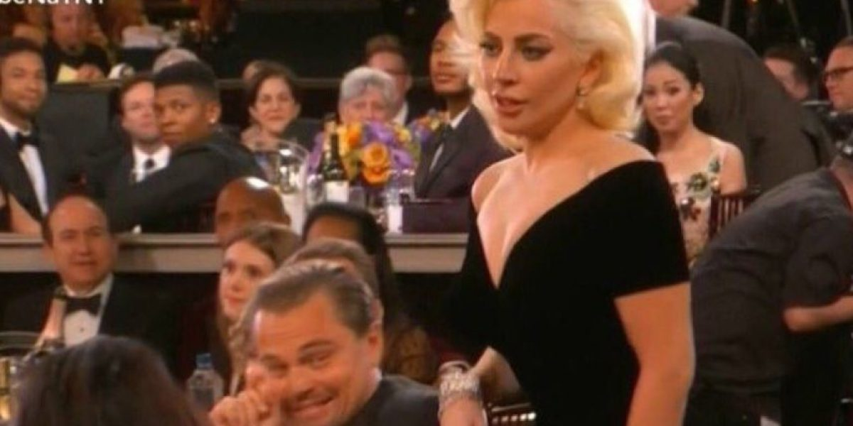 Se burlan de la cara de DiCaprio tras ser empujado por Lady Gaga