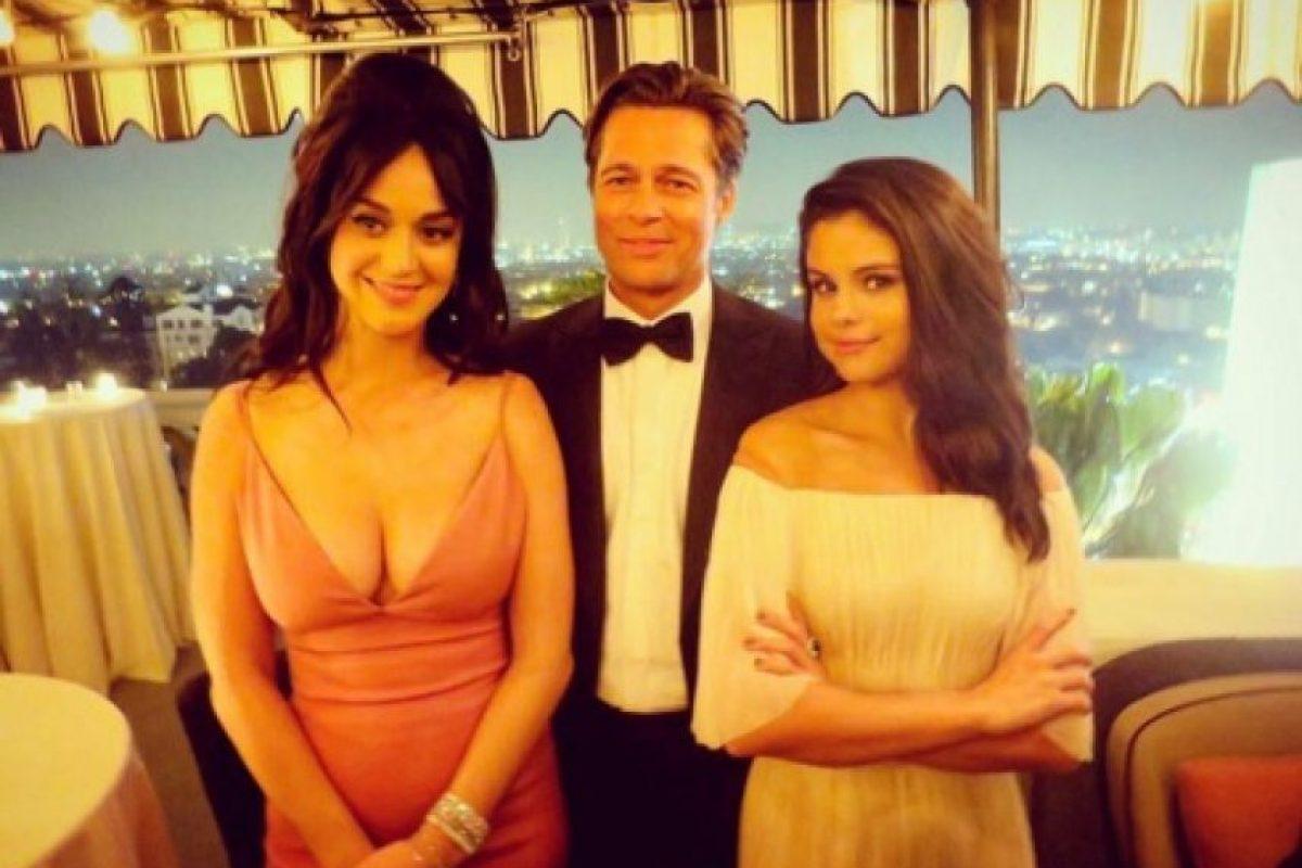 Katy Perry, Brad Pitt y Selena Gómez Foto:Instagram/katyperrylately. Imagen Por: