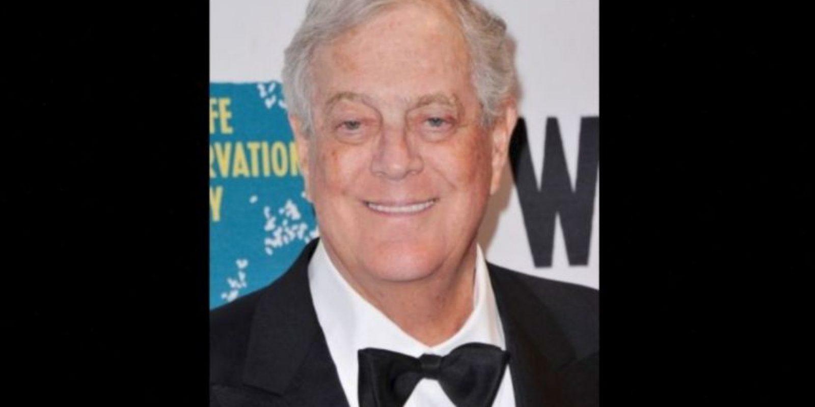 Vive en Nueva York y es confundador de las industrias Koch. Foto:Getty Images. Imagen Por:
