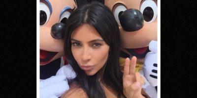 Mickey y Minnie Mouse Foto:Instagram/kimkardashian. Imagen Por: