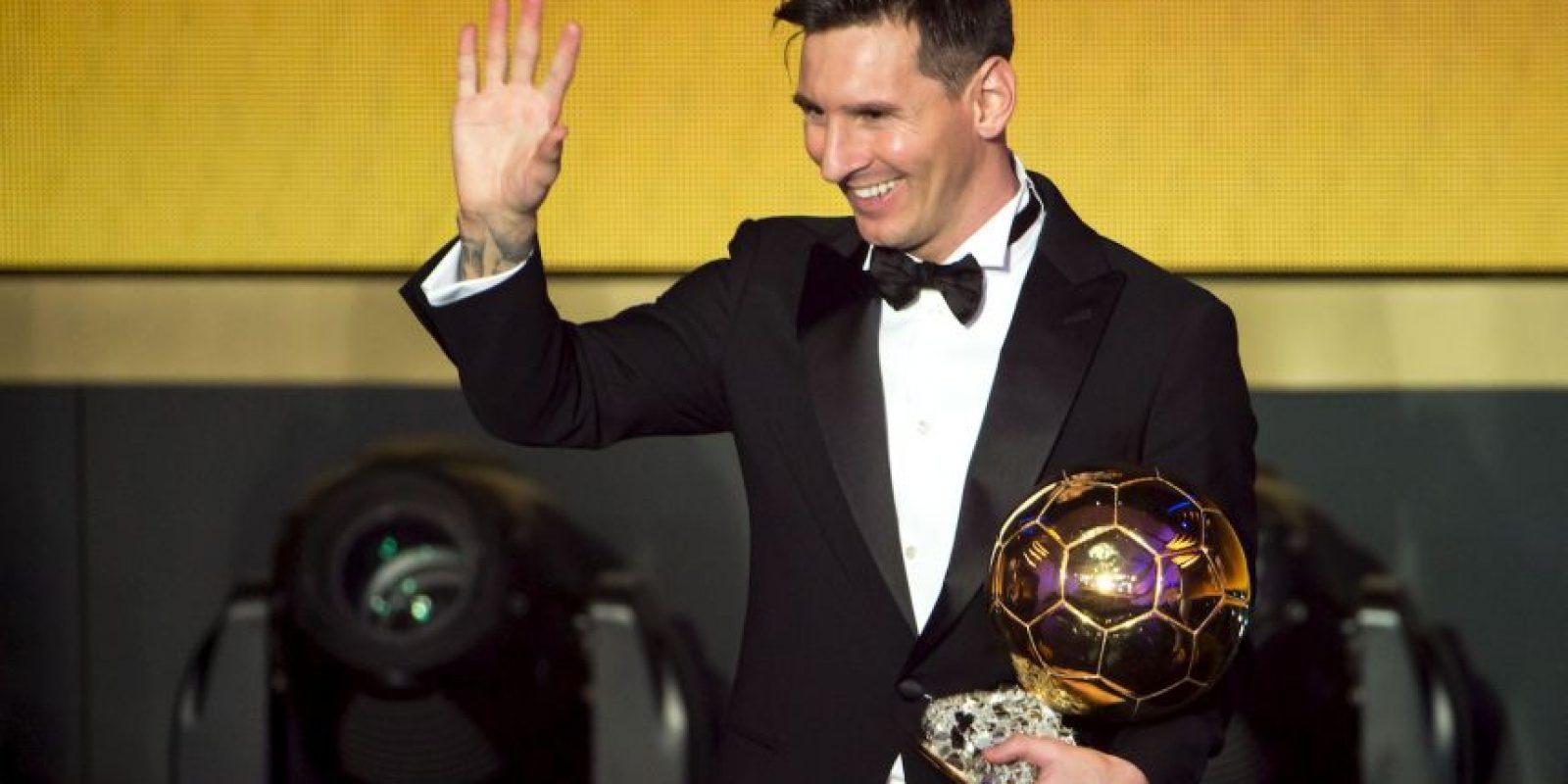 Así fue la premiación de Lionel Messi Foto:Getty Images. Imagen Por: