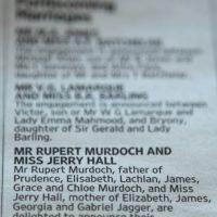 La pareja anunció su compromiso en un periódico propiedad del novio Foto:Getty Images. Imagen Por: