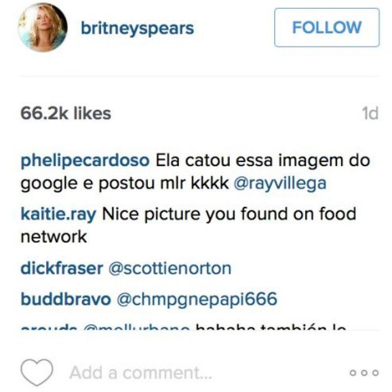 Phelipecardoso también asegura que sacó la foto de Internet. Foto:Vía Instagram/britneyspears. Imagen Por: