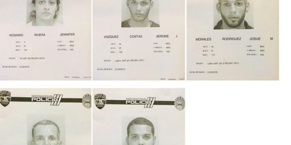 Arrestan a cinco por casos de robo y drogas en el sur