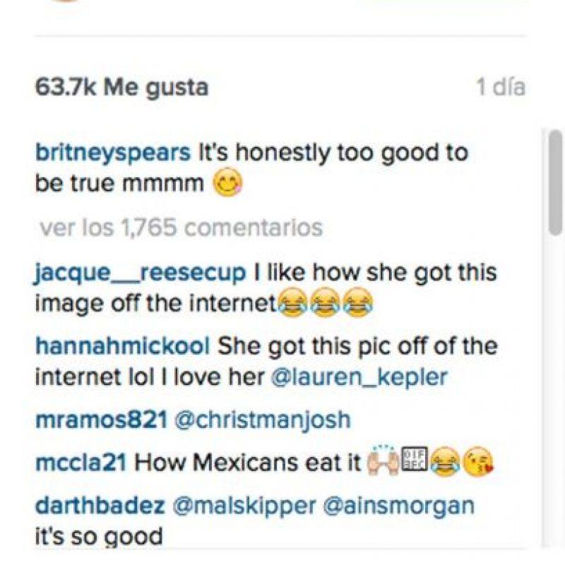 """""""Ella obtuvo esta foto de Internet"""". Foto:Vía Instagram/britneyspears. Imagen Por:"""