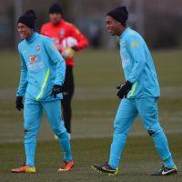 Compartiendo entrenamiento con Neymar Foto:Getty Images. Imagen Por:
