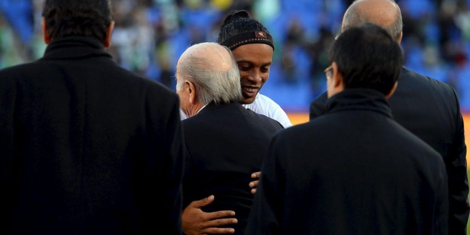 Los grandes amigos de Ronaldino Foto:Getty Images. Imagen Por: