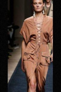Modelo de Balmain Foto:Getty Images. Imagen Por: