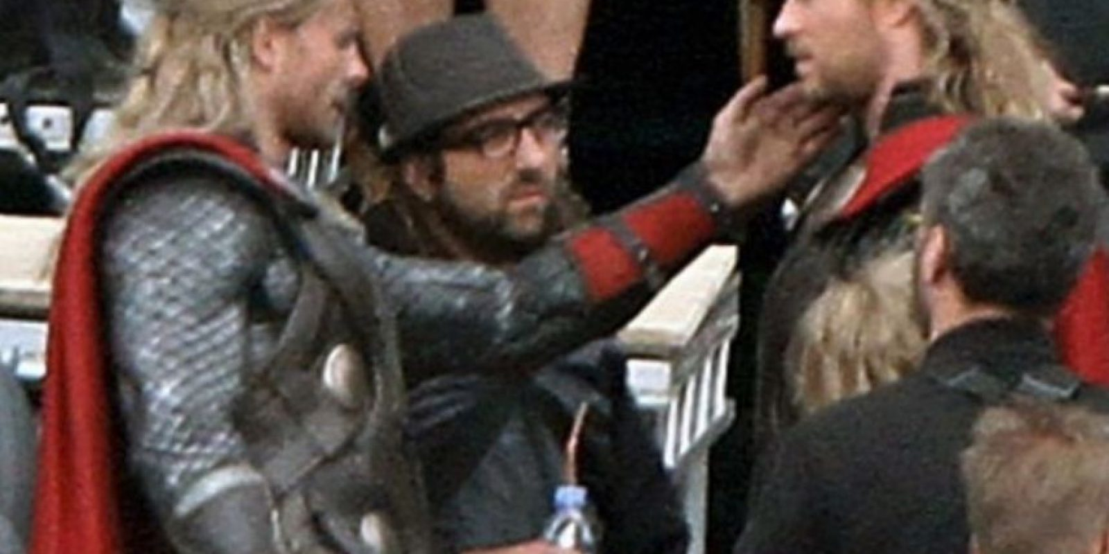 "El doble de Chris Hemsworth en ""Avengers: Age of Ultron"" Foto:Vía twitter.com/bobbyhanton. Imagen Por:"
