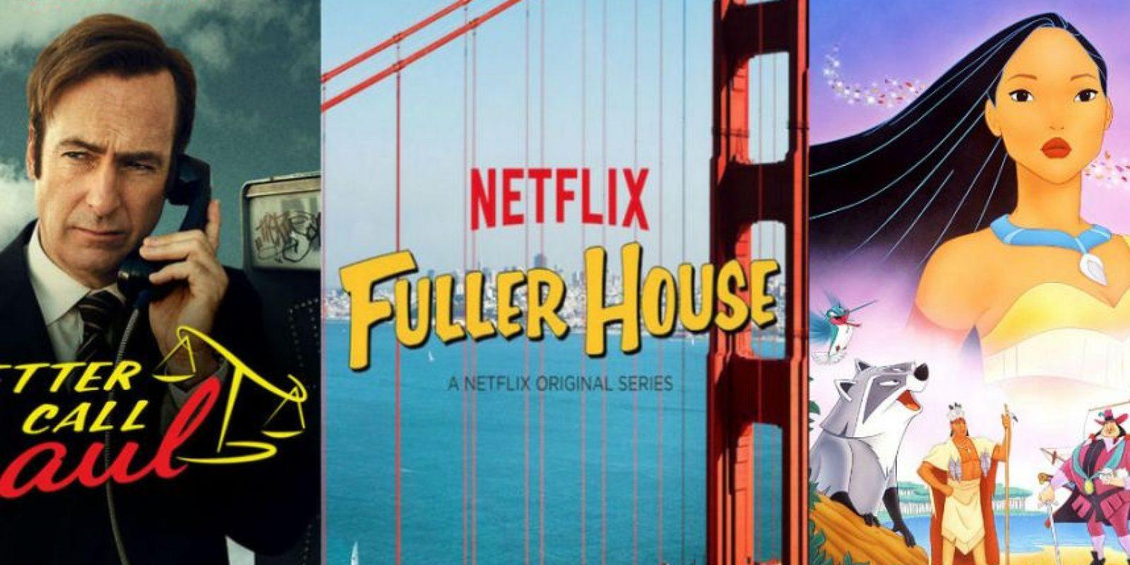 """El regreso de """"Better Call Saul"""", el spin off """"Fuller House"""", el clásico """"Pocahontas"""" y muchas novedades más. Foto:Vía Netflix. Imagen Por:"""