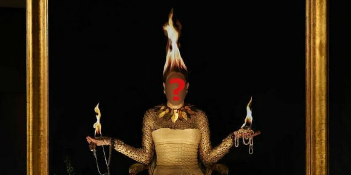 Esta famosa posó con fuego en su cabeza, descubran quién fue