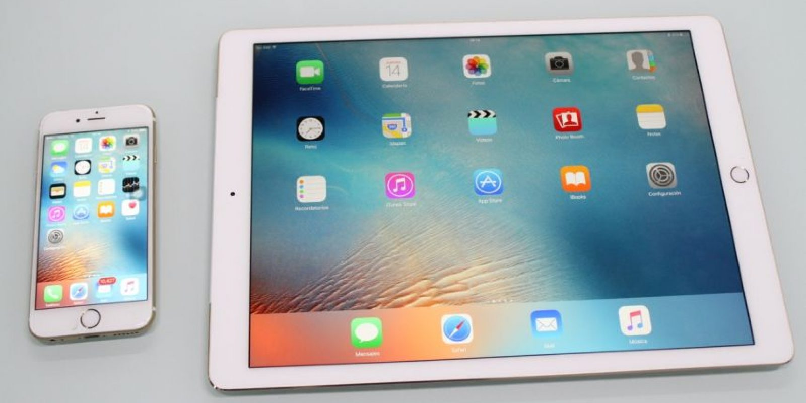 iPhone 6s (izquierda) y iPad Pro (derecha). Foto:Nicolás Corte