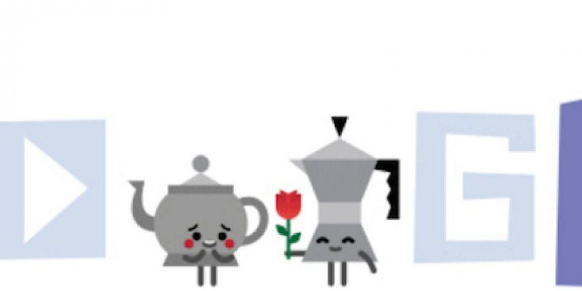 Google celebra San Valentín con románticas caricaturas
