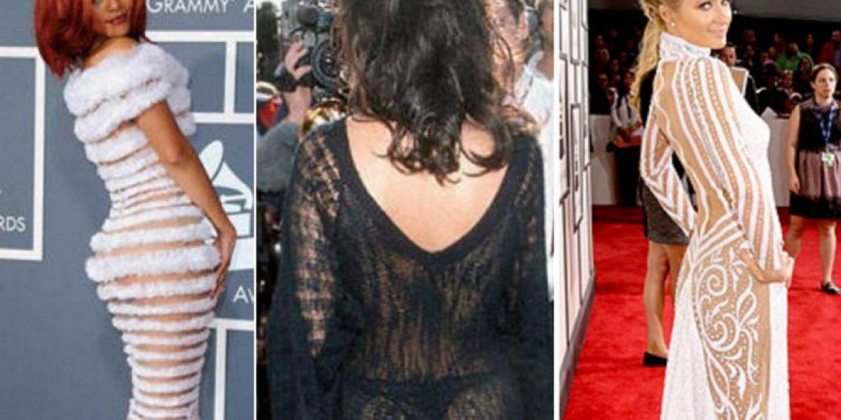 Los vestidos más reveladores de los Grammy