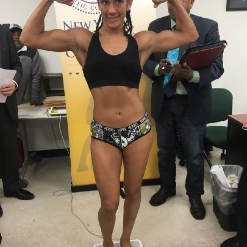 Amanda Serrano pesó 126 libras para su pelea titular. Foto:Suministrada. Imagen Por: